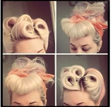 Some steps to have a beautiful retro hair style