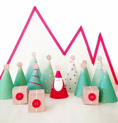 Gorgeous free printable advent calendar from a Lovely Lark