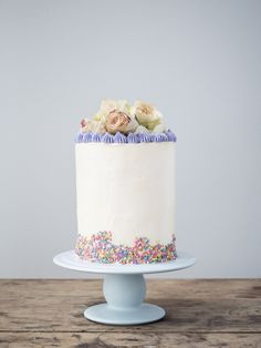 Inspiration on how to decorate a tall and beautiful layered birthday cake <3