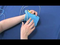 How to Knook - Setup & Knooking the Knit Stitch - YouTube