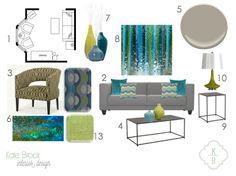 Kate Brock Interior Design ll eDesign Board ll Modern Mid-Century