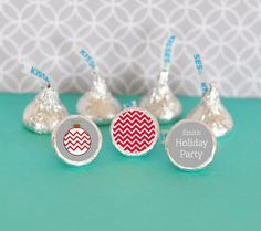 Personalized Winter Hershey's® Kisses Labels Trio by NspireDesign