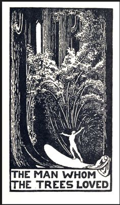 An illustration from one of the books in the Duchesne estate library. It's for a long short story by Algernon Blackwood (unfortunately not one of his best).