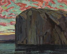 "Arthur Lismer (English-born member of the Group of Seven) - ""Bon Echo"" Group Of Seven Artists, Group Of Seven Paintings, Canadian Painters, Canadian Artists, Franklin Carmichael, Ontario, Toronto, Tom Thomson, National Art"