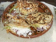 quesadillas on home made tortilla shells at Los Tres Gallos.