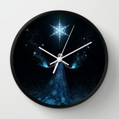 Frozen Wall Clock. If I could have a Frozen themed room, I would.