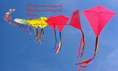 colorful kites with quote photos