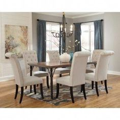 Genial Get Your Tripton Rectangular Dining Room Table U0026 6 UPH Side Chairs At  Railway Freight Furniture, Albany GA Furniture Store. Meubles De Salle à  Manger