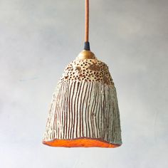Large Lime and Copper Pendant Light — Earth Darlings