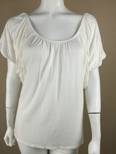 EXPRESS Ivory Blouse Batwing top Peitie Small  Rayon #express #blouse