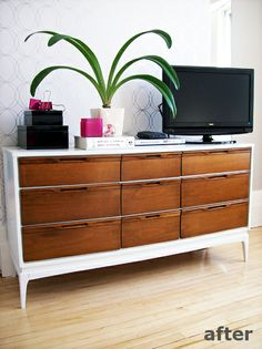 Wonderfully Domestic white/wood credenza