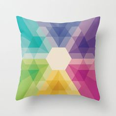 Pillow meets rainbow meets geometry equals pretty