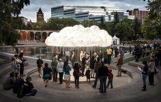 Una nube de miles de bombillas!!