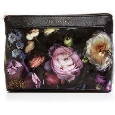 Ted Baker Extra Large Hudson Shadow Floral Cosmetic Case found on Polyvore featuring beauty products, beauty accessories, bags & cases, mid grey, travel bag, purse makeup bag, toiletry kits, cosmetic purse and ted baker