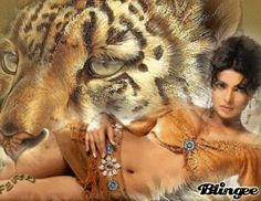 Tiger Girl | This Blingee was created with Blingee Plus! Upgrade now! Install ...