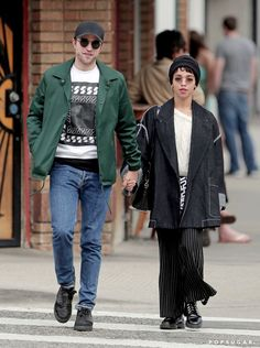 Pin for Later: Robert Pattinson and FKA Twigs Take a Smiley Stroll — Is This Her Engagement Ring?