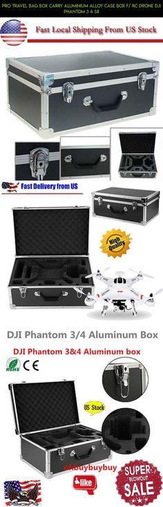 Pro Travel Bag Box Carry Aluminium Alloy Case Box F/ RC Drone DJI Phantom 3 4 S8 #tech #travel #pro #camera #shopping #dji #parts #gadgets #racing #fpv #plans #kit #phantom #products #technology #case #4 #drone