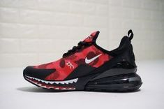 ca6991475fff Bathing APE x Nike Air Max 270 Camo Red Men s Running Shoes