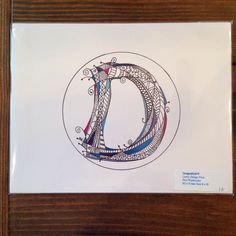 A personal favorite from my Etsy shop https://www.etsy.com/listing/237354580/cool-tones-letter-d-design-personalized