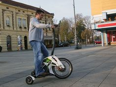 """S3TR - Transportation Concept by Vladimir Bošnjak - S3TR (pronounced """"streeter"""") is a personal transporter for urban areas that focuses around simple construction to save on cost without sacrificing fun. Read more at http://www.yankodesign.com/2013/12/04/a-ride-down-easy-street/#hCpBtLGYCJfjMhwu.99"""