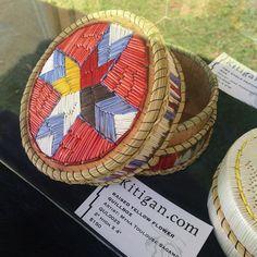 Sweetgrass Quill Work Basket