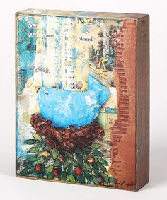 Take a look at this Blue & Green Our Nest is Blessed Box Sign by Collins on #zulily today!