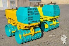 Rodillo compactador pata de cabra Rammax RW1504 de segunda mano. Pintado en verde y amarillo. Los filtros han sido cambiados. Ya a la venta a buen precio. Puede ver todas las fotos y datos técnicos en nuestra web: http://www.ito-germany.es/rammax-grabenwalze-walze#photos . Primer uso: 2007. Peso operativo aproximado: 1440kg /1480kg. Anchura de los rodillos: 850 mm. #Rammax #RW1504 #patadecabra #maquinariausada #maquinariadesegundamano #maquinariadeocasion #rodillocompactador #apisonadora
