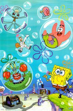 Spongebob - Bubbles poster