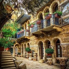 Lebanon A very beautiful traditional village house by Places Around The World, The Places Youll Go, Around The Worlds, Beautiful Buildings, Beautiful Places, Wonderful Places, Vila Medieval, Architecture Design, Naher Osten