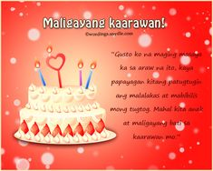 The 210 best birthday message images on pinterest in 2018 birthday happy birthday messages birthday greetings birthdays cute tagalog birthday anniversary m4hsunfo