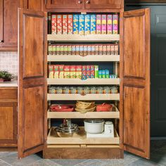 Pantry Shelving, Kitchen Organization Pantry, Diy Kitchen Storage, Home Office Organization, Storage Cabinets, Pantry Ideas, Kitchen Ideas, Medicine Organization, Pull Out Pantry Shelves