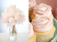 Pink Cupcakes and Pink Peonies
