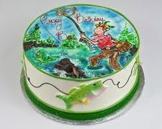 fishing birthday cake idea