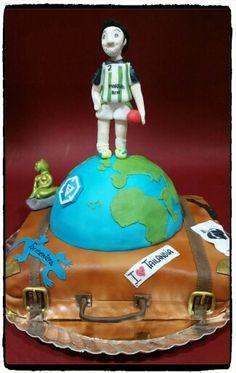 Pastel Viaje por mi mundo Www.facebook.com/losdulcesdejudy