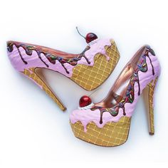 Premium Charcoal Ice Cream Heels - Shoe Bakery Source by heels wedges Mid Heel Shoes, Pumps Heels, Wedge Shoes, High Heels, Platform Shoes, Wierd Shoes, Crazy Shoes, Me Too Shoes, Ice Cream Shoes
