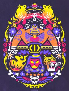 I was lucky enough to get to do an official Guacamelee shirt as well as work on the game! (I did background art + prop design) I love this game so much, it turned out so well. You can get th...