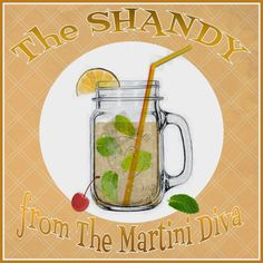 MINT SHANDY COCKTAIL Recipe for National Lager Day from MartiniDiva.Com.