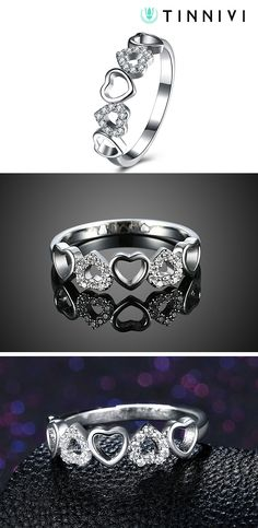 Shop ❤️Tinnivi Heart Hollow Out Sterling Silver Band❤️online️, Tinnivi creates quality fine jewelry at gorgeous prices. Shop now! Wedding Anniversary Rings, Wedding Rings, Jewelry Gifts, Fine Jewelry, Hollow Heart, Wedding Bride, Jewelry Design, Engagement Rings, Band