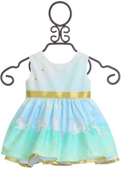 The Five Loaves Two Fish Unicorn Dress for Baby is a great choice for birthdays or other fun events. Let your imagination run wild with this dress. Girls Special Occasion Dresses, Unicorn Dress, Two Fish, Frocks, Baby Dress, Fun Events, Summer Dresses, Children, Fashion