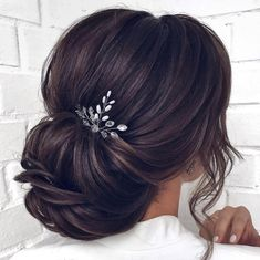 wedding hair with fringe - weddinghair Bridal Hair Updo, Wedding Hairstyles For Long Hair, Wedding Hair And Makeup, Bride Hairstyles, Hairstyles With Bangs, Hair Makeup, Bridesmaid Hair, Prom Hair, Hair Flow