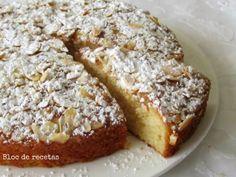 Bloc de recetas: Tarta de manzana con base de bizcocho de yogur