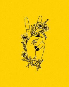 "Image tagged ""yellow, flowers, and nails"" – # – Wallpaper Ideas Hand Tattoo, Illustration, Happy Colors, Mellow Yellow, Yellow Art, Yellow Painting, Wall Collage, Picture Wall, My Favorite Color"