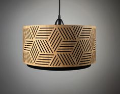 Lampshade made of wood with cut-outs / Handmade by minjonshop