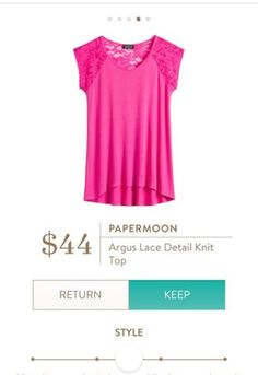Dear Stitch Fix Stylist - I LOVE the bright color and lace sleeves on the Papermoon Argus Detail Lace Knit Top