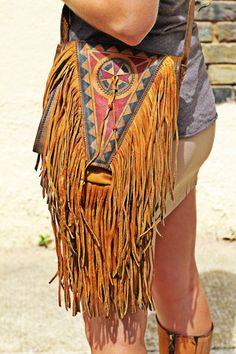 ➳➳➳☮American Hippie Bohemian Boho Bohéme Feathers Gypsy Spirit Bizu Baroque Tati Tati Style - Fringe Bag