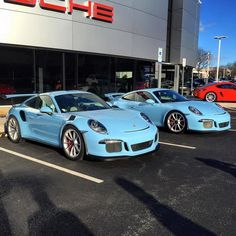 Double Gulf Blue - Porsche 991 GT3 and GT3 RS