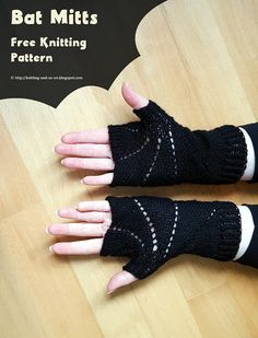 Knitting and so on: Bat Mitts