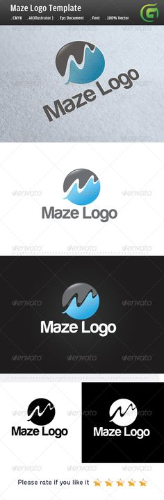 Maze Logo #GraphicRiver Easy to edit with highly applicable. The Pack included: 100% vector (resizable) Color mode: CMYK AI file (for Illustrator CS or higher) EPS file (for Illustrator / Corel Draw / Freehand) Help document with download link of the font used Fonts used here is : .dafont /harabara.font? For any other information, contact me. Please rate if you like it !! Created: 10July13 GraphicsFilesIncluded: PhotoshopPSD #TransparentPNG #JPGImage #VectorEPS #AIIllustrator #Font Layered…