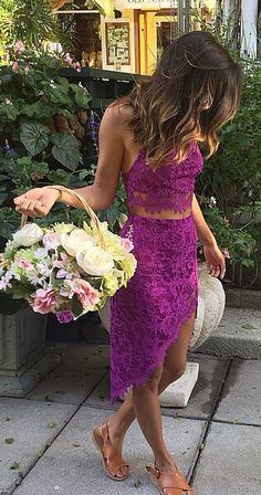 Purple lace set