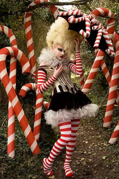 The Vanity of the Candy Cane Witch - Wonderland - Kirsty Mitchell